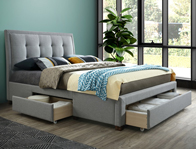 Birlea Shelby Fabric Drawer Bed Frame