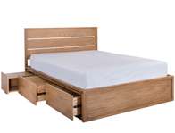Cadot Windsor Oak Storage Bed