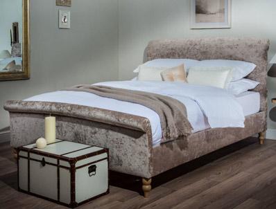Cadot Zafia Stone abric Bed Frame