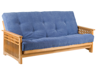 Cambridge Futons Akino Oak 3 seater Futon