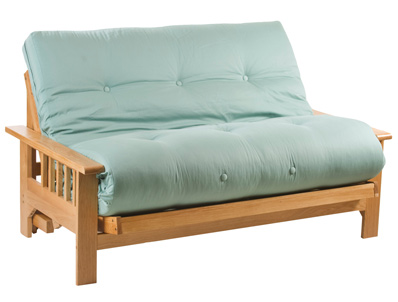 Cambridge Futons Cavendish Oak 2 Seater Futon