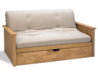 Cambridge Futons Pangkor Oak 2 Seater Futon