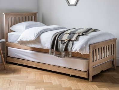 Dreamworks Banbury Solid Oak Guest Bed