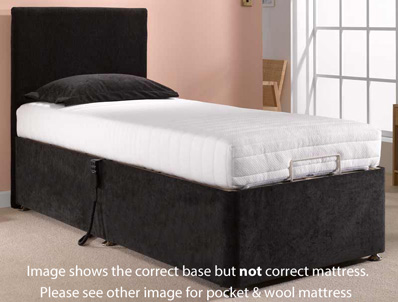 Dreamworks Wool Adjustable Bed - Deep Base
