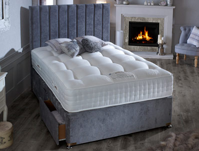 Dura Beds Natural 2000 Silver Divan Set