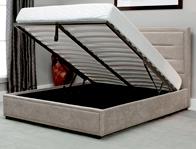 Emporia Knighton Fabric End Open Ottoman Bed Frame