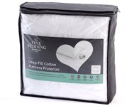 Fine Bedding Company Deep-Fill Cotton Mattress Cover