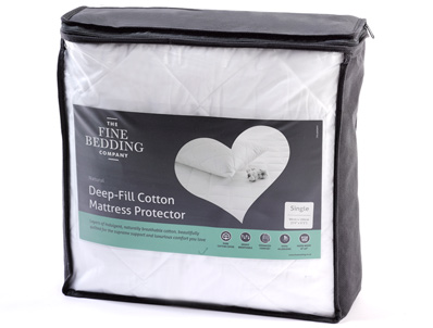 Fine Bedding Company Deep-Fill Cotton Mattress Protector
