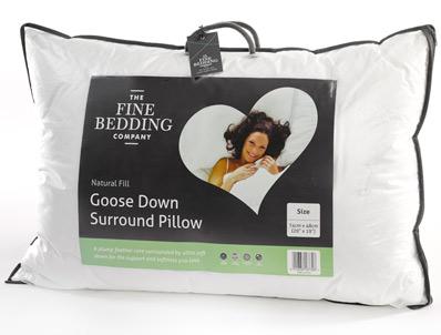 Fine Bedding company Goose Down Surround Pillow