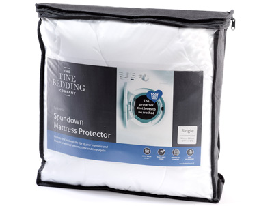 Fine Bedding Company Spundown Quilted Mattress Cover