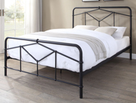 Flintshire Axton Black Metal Bed Frame