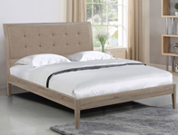 Flintshire Broughton Wooden Fabric Bed Frame