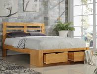 Flintshire Furniture Bretton Oak Colour Drawer Bed frame