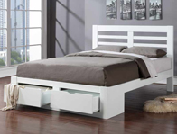 Flintshire Furniture Bretton White Wooden Drawer Bed Frame