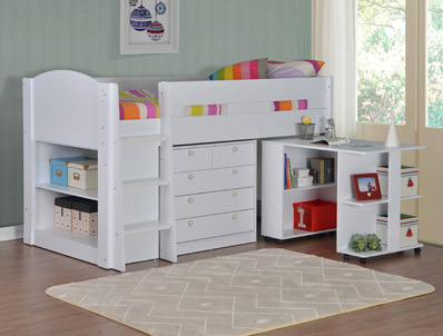 Flintshire Furniture Frankie White Cabin Bed