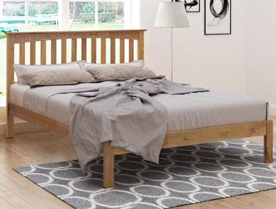 Flintshire Furniture Gladstone Light Oak Bed Frame