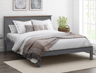 Flintshire Furniture New Conway Painted Grey Oak Bed Frame