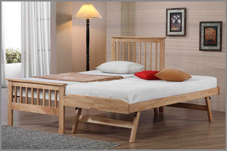 Flintshire Furniture Pentre  Hardwood Guest Bed Frame Only