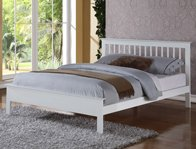 Flintshire Furniture Pentre White Finish Bed Frame