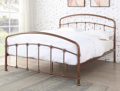 Flintshire Mostyn Rose Gold Metal Bed Frame