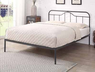 Flintshire Oakenholt Matt Black Metal Bed Frame