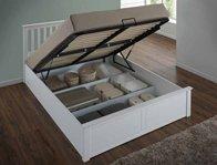 Flintshire Pentre White Finish Double Size Ottoman Bed Frame