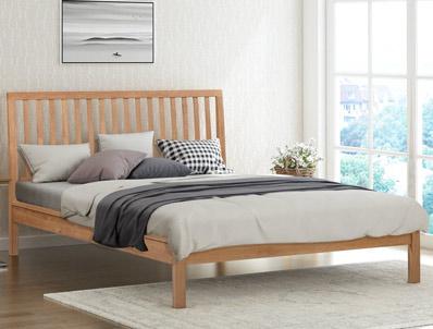 Flintshire Rowley Solid Smoked Oak Bed Frame