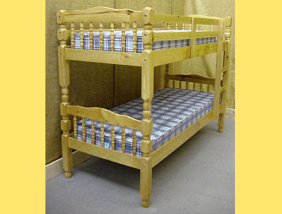 Friendship Mill Turned Pine Bunk Bed Frame