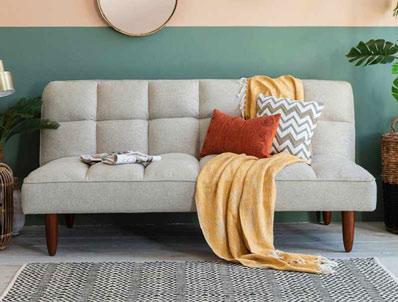 Gallery Oslo Futon/Sofa Bed Parchment