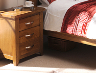 Instyle Country Oak 3 Drawer Bedside