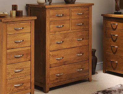 Instyle Country Oak 4 Over 3 Drawer Chest