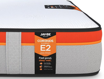 JAY-BE CoreKids E2 Memory e-Pocket 750 Eco Friendly Mattress Pocket Sprung