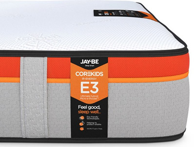 JAY-BE CoreKids E3 Micro e-Pocket 1600 Eco Friendly Mattress Pocket Sprung