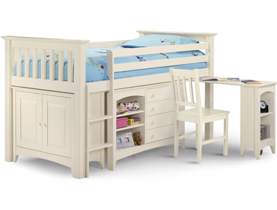 Julian Bowen Cameo Sleepstation  White Cabin Bed