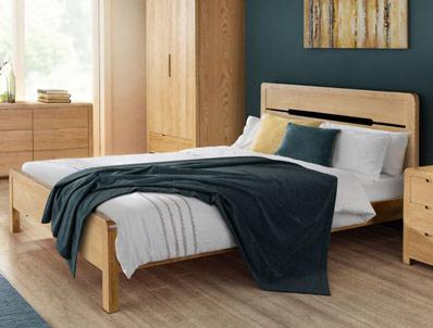 Julian Bowen Curle Oak Bed Frame
