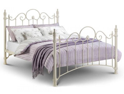 Julian Bowen Florence White Metal Bed Frame