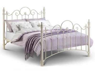 Julian Bowen Florence White Metal Bed Frame