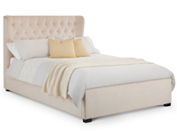 Julian Bowen Geneva Pearl fabric bed Frame