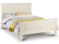Julian Bowen La Rochelle White Wood Bed frame King Size Only