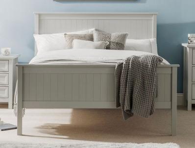 Julian Bowen Maine Dove Grey Bed Frame