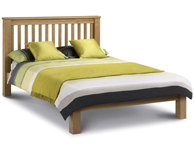 Julian Bowen Marlborough American Low Foot End Oak Bed Frame