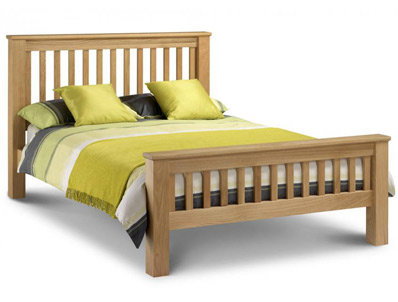 Julian Bowen Marlborough American Oak Bed Frame