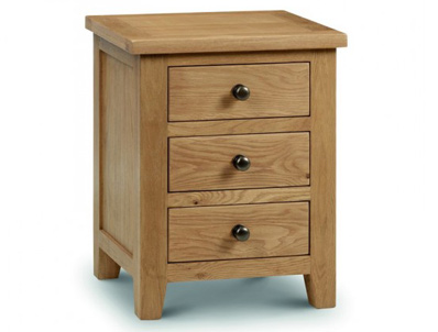Julian Bowen Marlborough Oak 3 Drawer Bedside