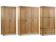 Julian Bowen Marlborough Oak Wardrobes