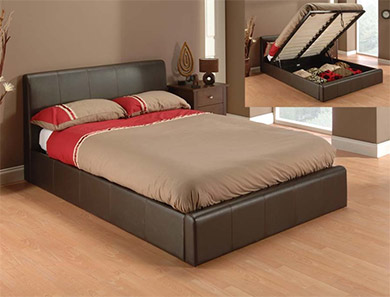 Julian Bowen Phoenix  Faux Leather Ottoman Bed