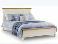 Julian Bowen Portobello Painted White & Oak Bed Frame
