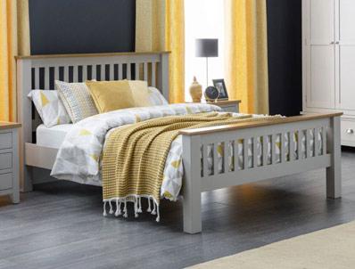Julian Bowen Richmond Grey and Oak Bed Frame