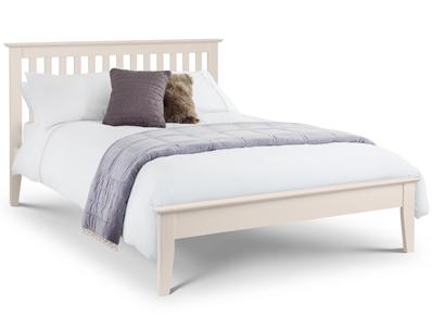 Julian Bowen Salerno Stone White Wood Bed Frame