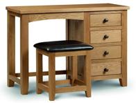Julian Bowen Single or Double Pedestal Dressing Table