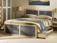 Julian Bowen Strada Light Oak Finish Mdf Bed Frame